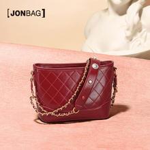 简佰格小众设计包包2020新款潮链条单肩斜挎女包红色复古流浪