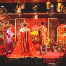 凤冠霞帔十里红妆图片 中式婚纱凤冠霞帔图片