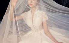 V领婚纱图片和款式