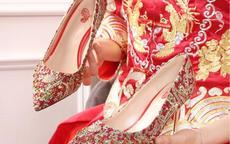 秀禾服婚纱可以穿一双婚鞋吗