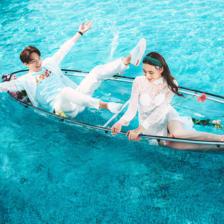 青岛水晶船婚纱照拍摄技巧和注意事项