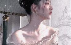 超级仙气的女生头像婚纱 白婚纱头像
