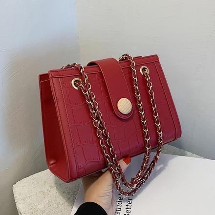 紅色包包女結婚包包新娘包手提包2021新款時尚質感斜挎包高級