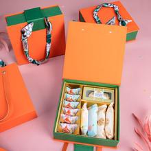 橙心如意 绑带皮质手提盒结婚回礼