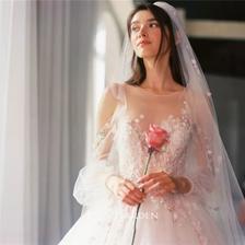 120斤胖新娘穿出了90斤的感觉,也太会选婚纱了吧!